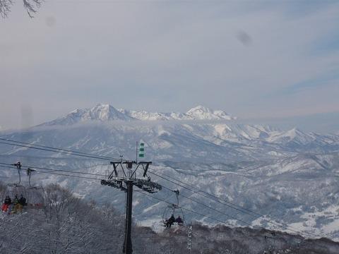 雄大な「妙高山」「火打山」、上ノ平からの絶景。